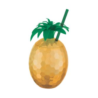 Ananas Cocktail Becher