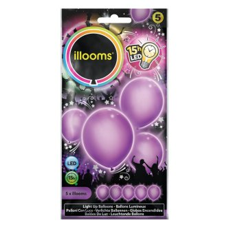 Latexballons LED, lila
