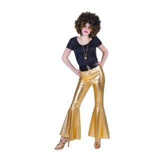 Disco Fieber Hose in gold, 36/38