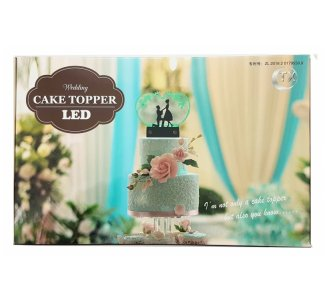 Cake Topper LED Brautpaar
