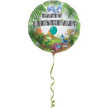 Ballon Happy Birthday mit Dino