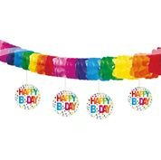 Motiv Girlande Rainbow Dots, 4m