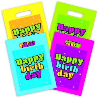Happy Birthday Give away Tüten, 8 Stück