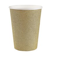 Becher glitzernd, gold