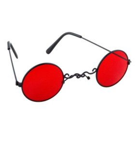 Funbrille in rot